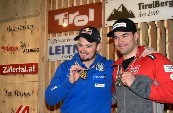Tirol-Berg in Aare: So wurde Abfahrts-Bronze gefeiert